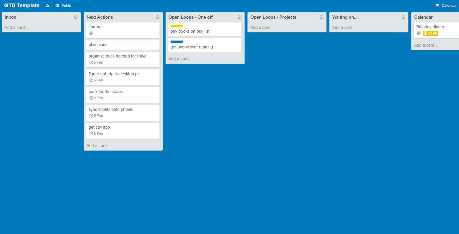 Getting Things Done With Trello