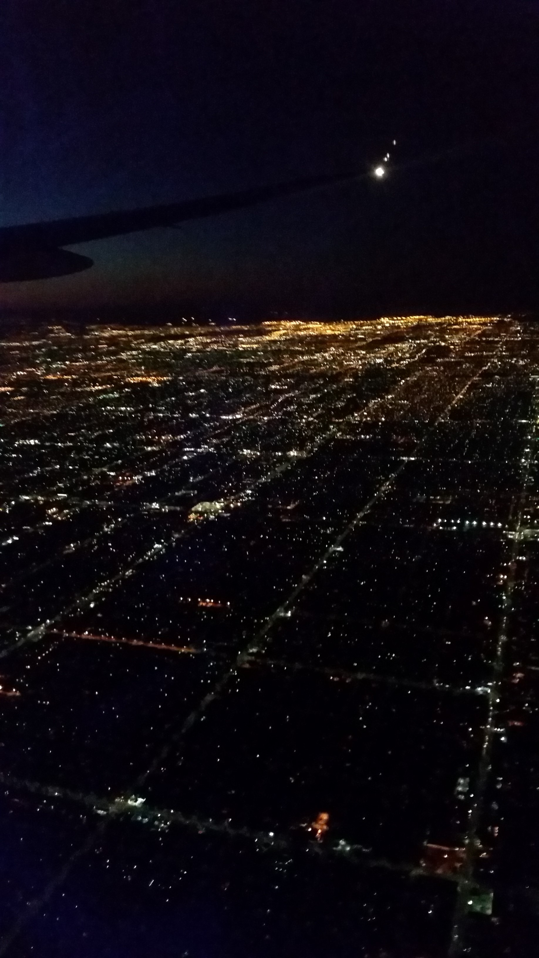 Flying in over LA